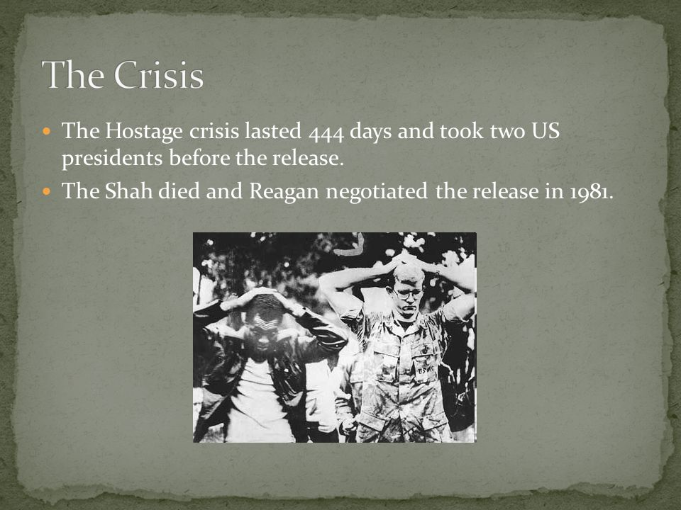 The Hostage crisis lasted 444 days and took two US presidents before the release.