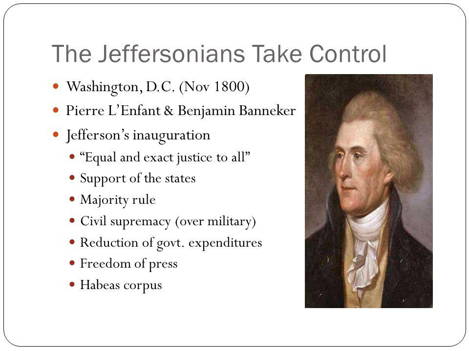 The Jeffersonians Take Control Washington, D.C.