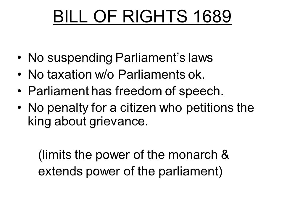 SECTION 2 Question: What laws did Parliament create to protect against arbitrary rule.