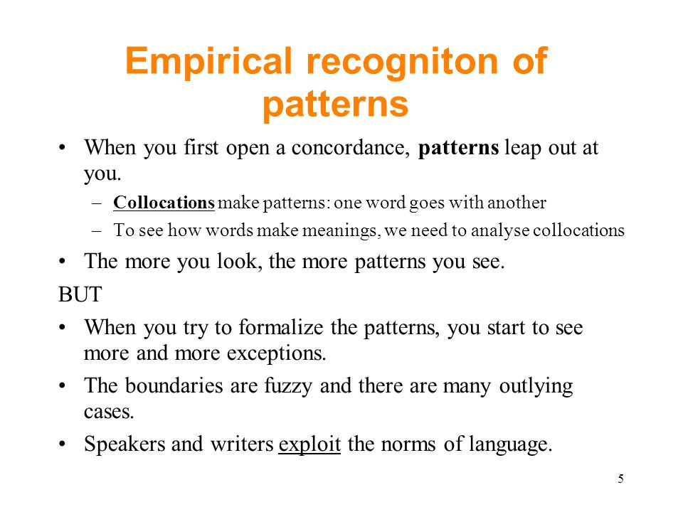 A methodological problem.a. look at examples of one particular word, [How many.