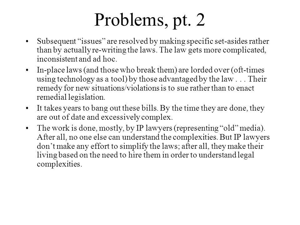 Problems, pt.