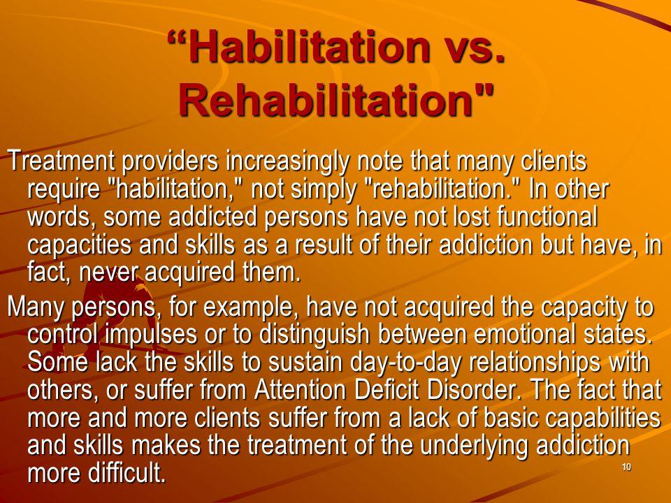 Habilitation vs.