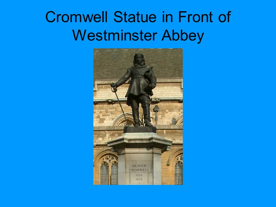 Cromwell Statue in Front of Westminster Abbey