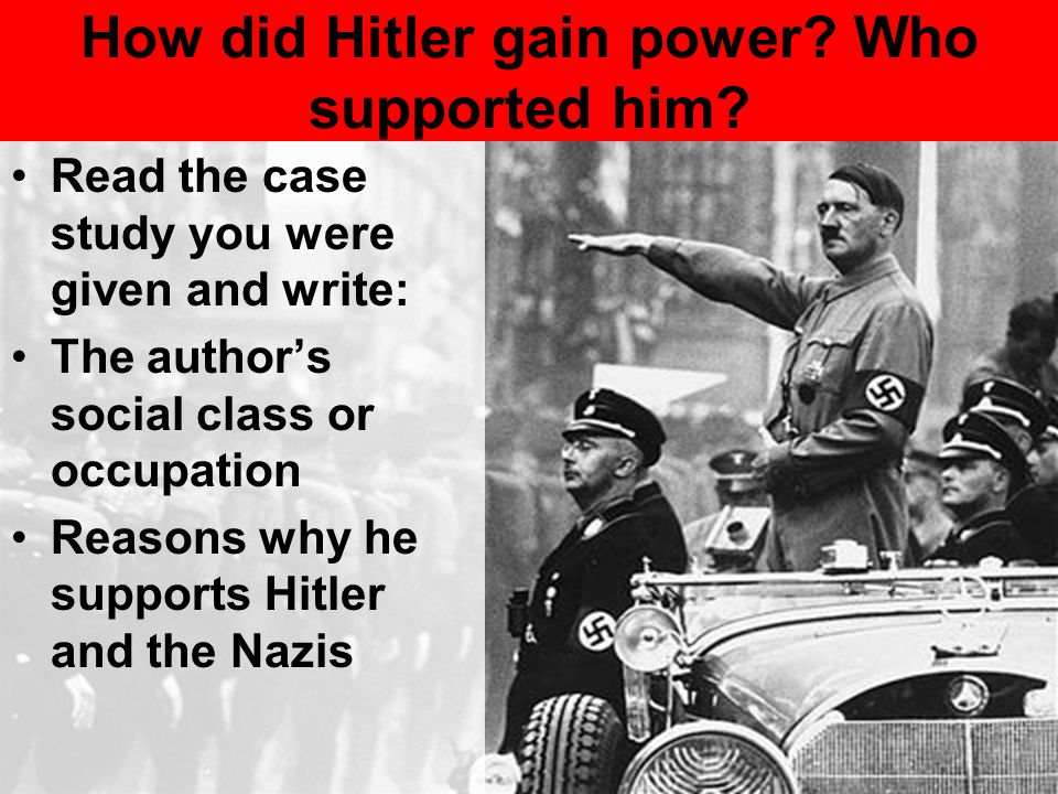 Describe Hitler's methods of propaganda.