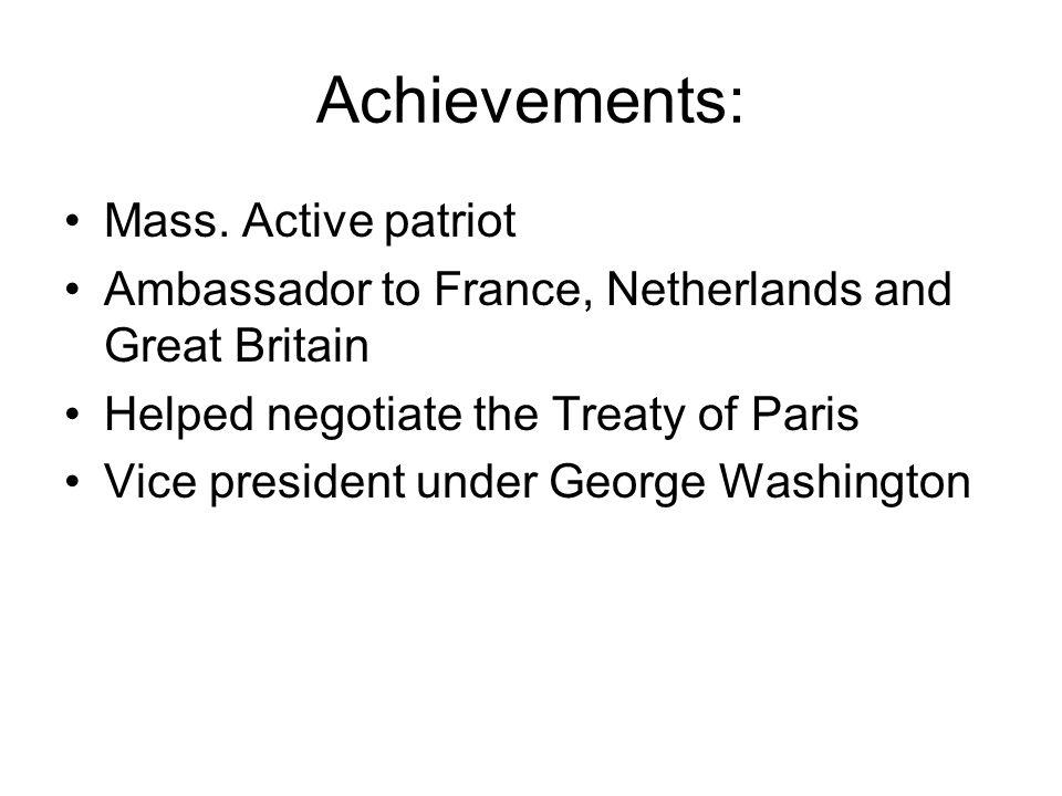 Achievements: Mass.