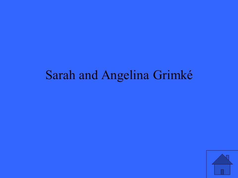 Sarah and Angelina Grimké