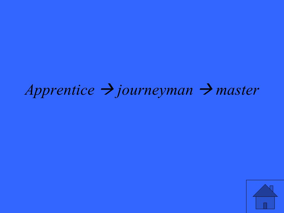 Apprentice  journeyman  master