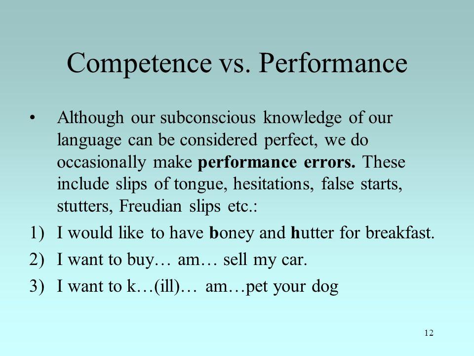 12 Competence vs.