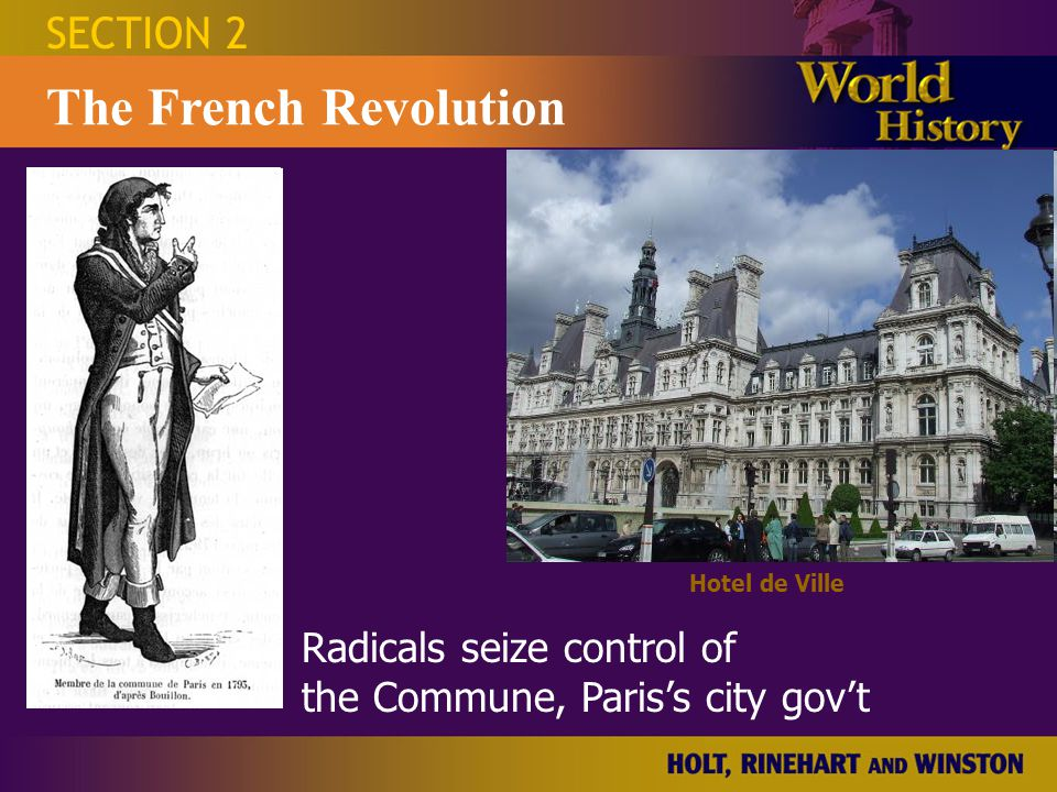 SECTION 2 The French Revolution Prussians threaten Paris IF the Royal Family Is harmed.