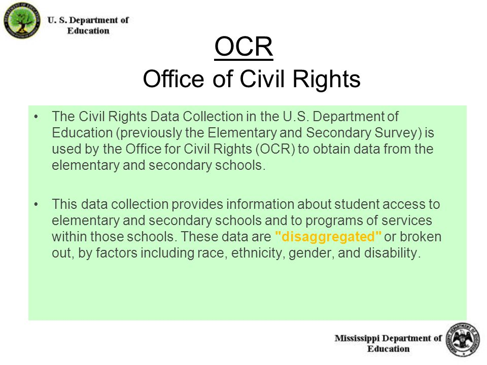 12 OCR The Civil Rights Data Collection in the U.S.