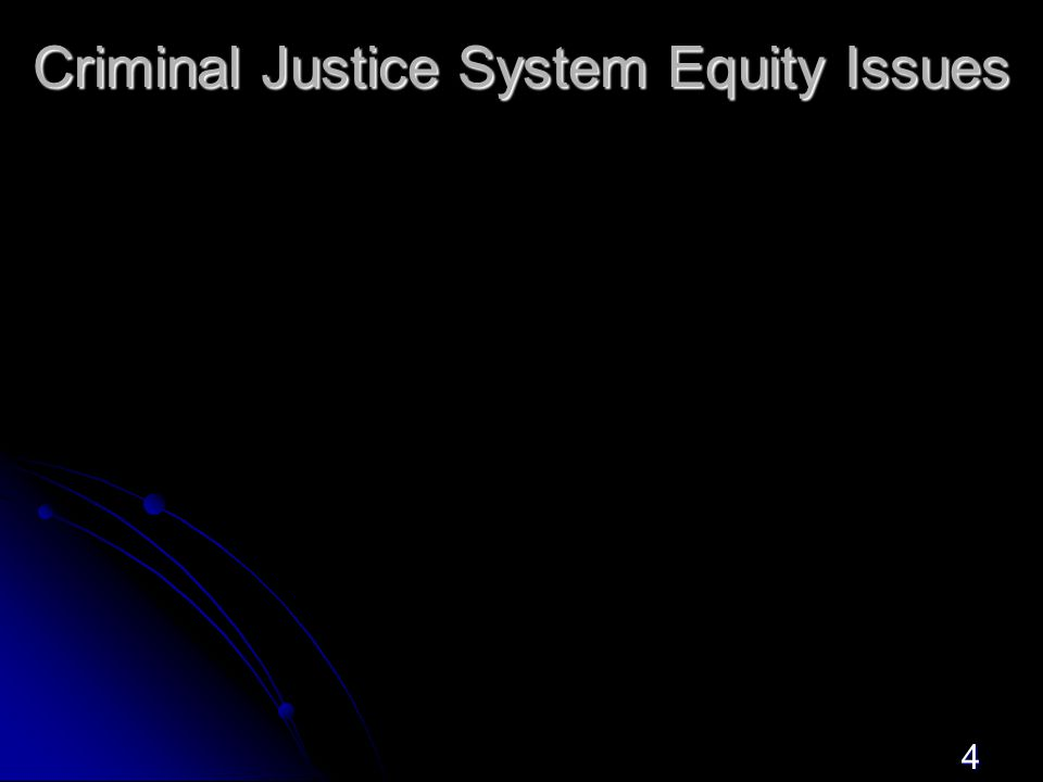 4 Criminal Justice System Equity Issues