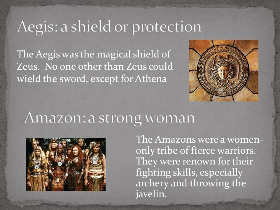 The Aegis was the magical shield of Zeus.