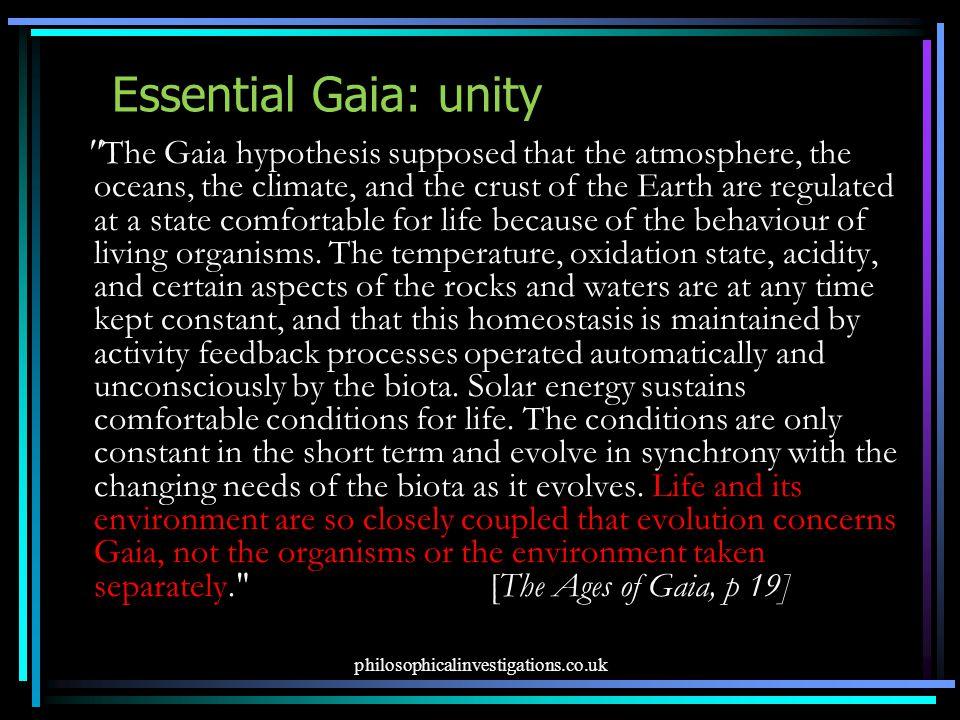 Essential Gaia: unity