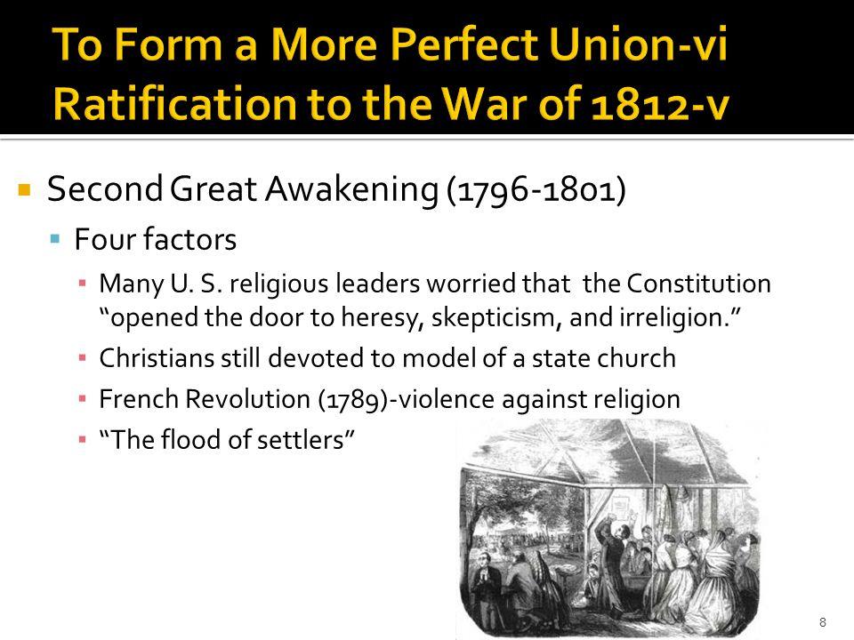  Second Great Awakening (1796-1801)  Four factors ▪ Many U.