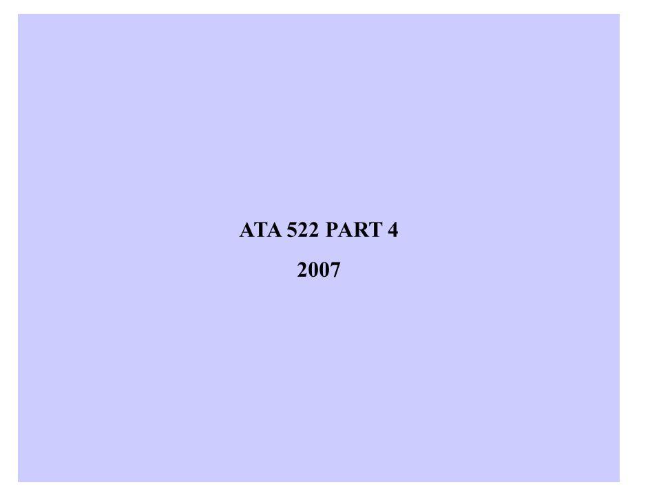 ATA 522 PART 4 2007
