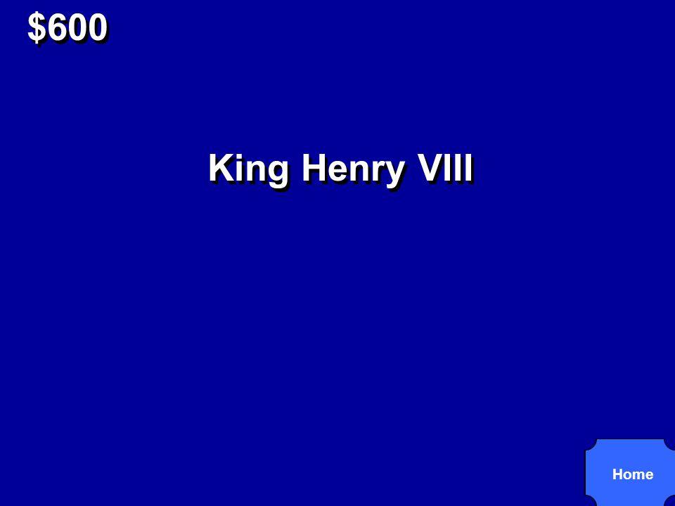 $600 Tudor King of England (1509-47).