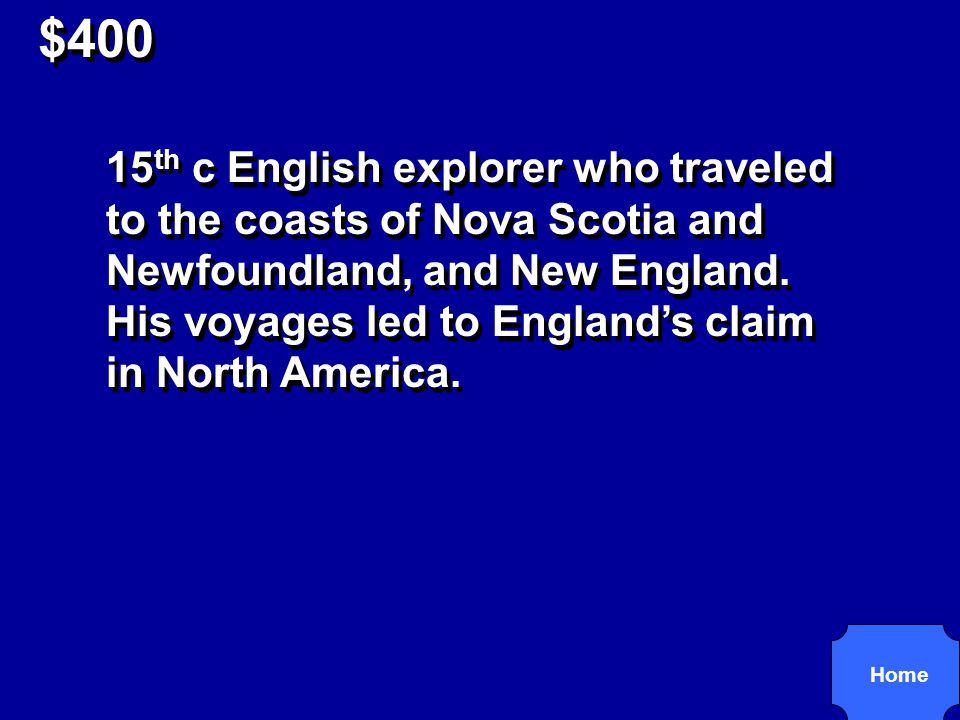 $400 John Cabot R3,2