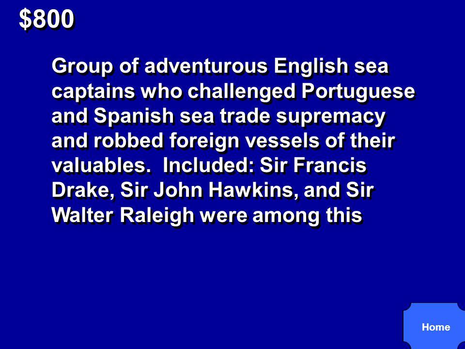 $800 Sea Dogs R3,4