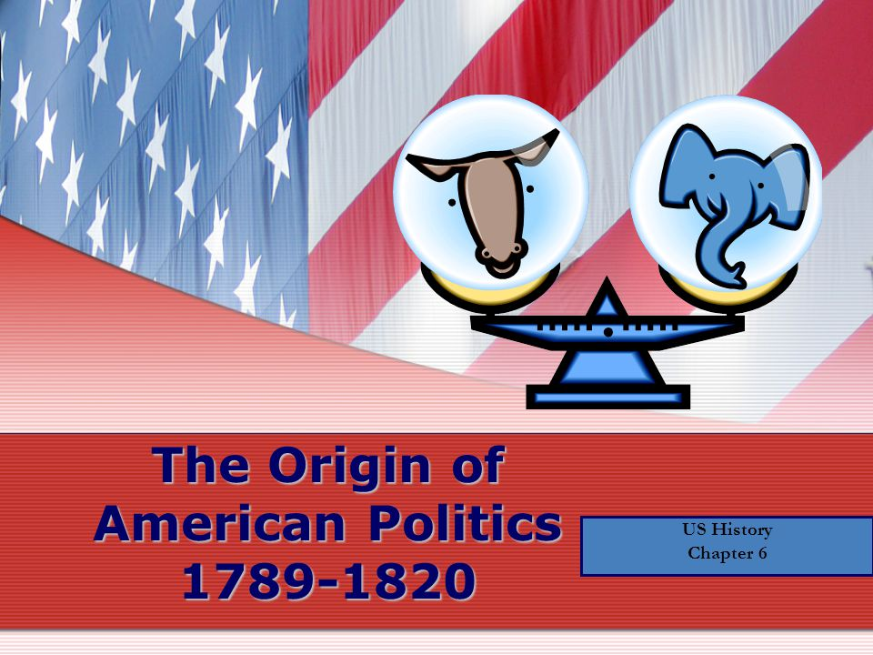 US History Chapter 6 The Origin of American Politics 1789-1820