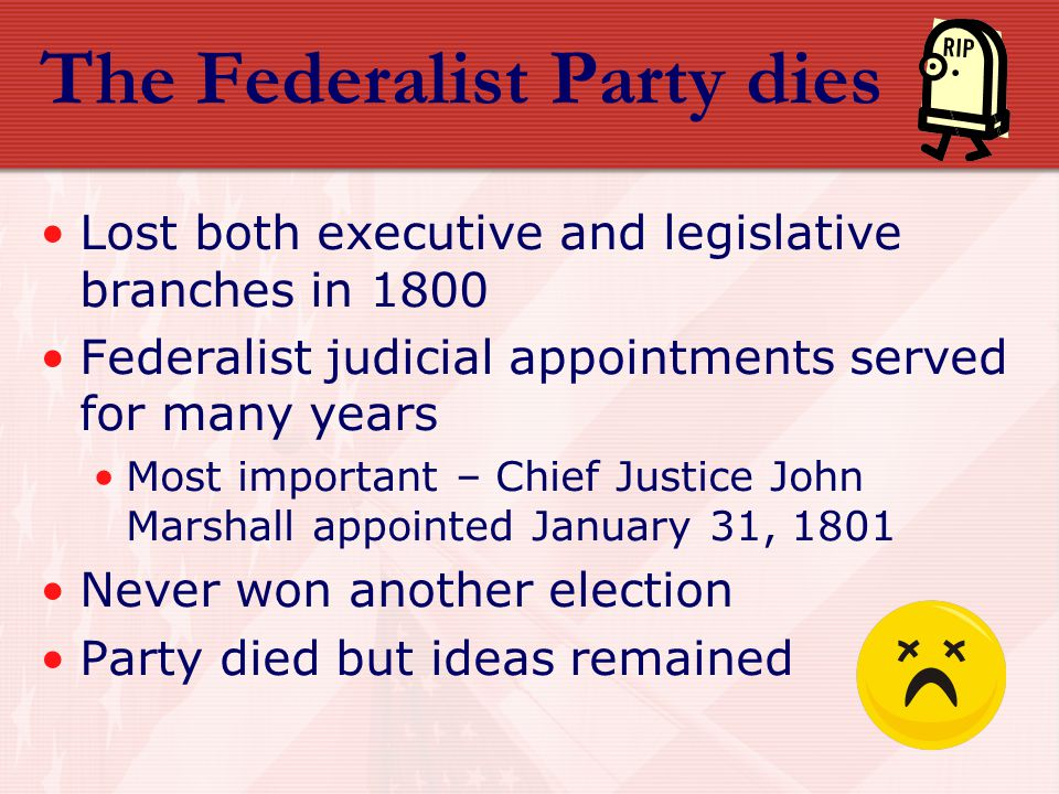 Summary of Federalist Era Fostered loose interpretation of Constitution Established national credit Created the court system Demonstrated ability of government to enforce laws Admitted three states Vermont, Kentucky, Tennessee Kept nation out of war Instituted a foreign policy of isolation