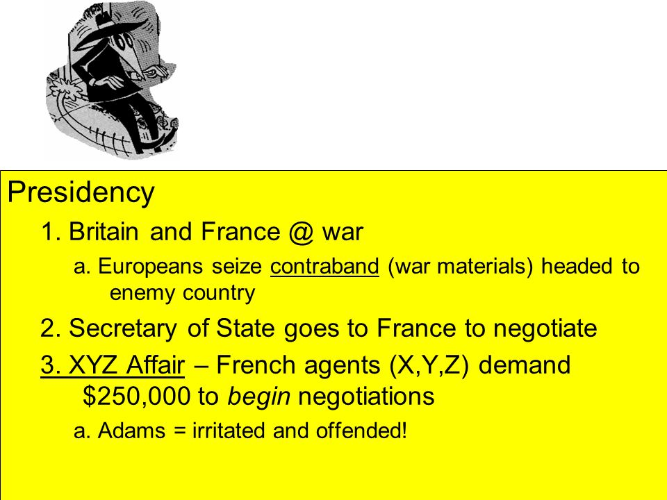 Presidency 1. Britain and France @ war a.
