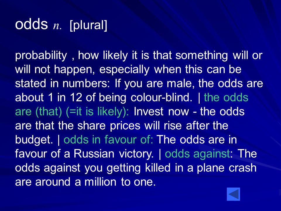 odds n.