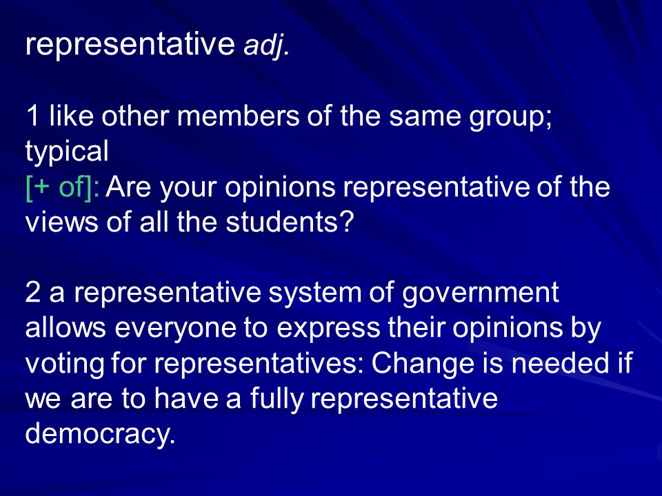 representative adj.