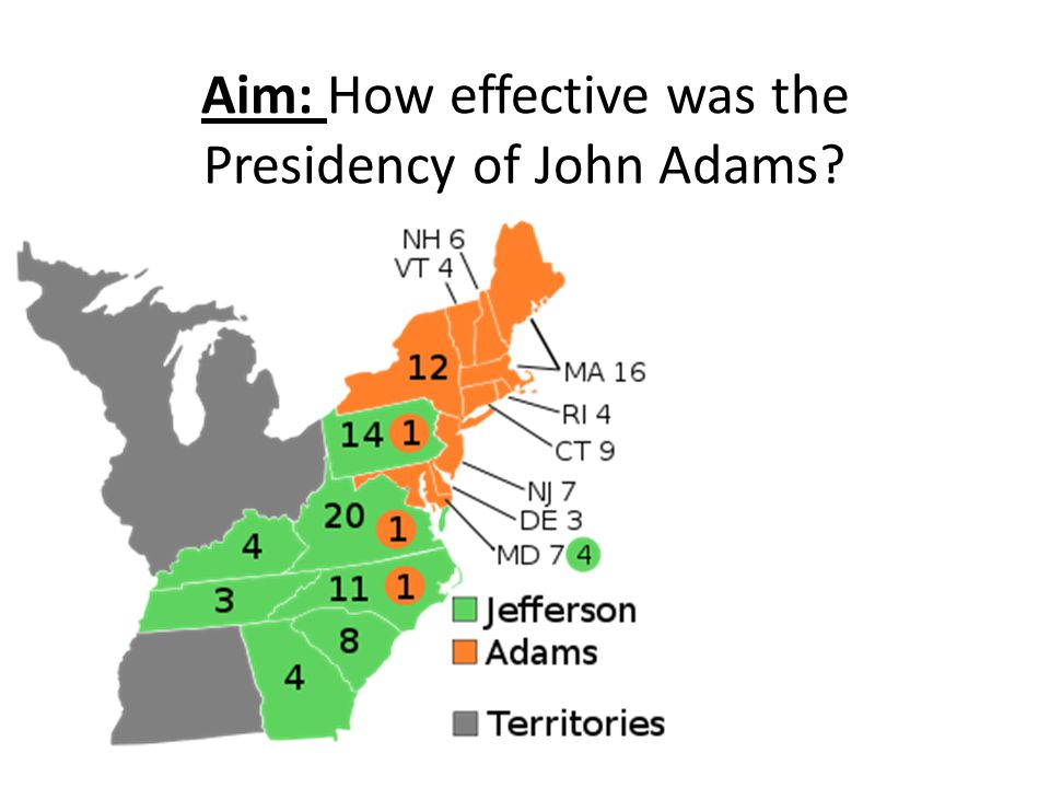 Aim: How effective was the Presidency of John Adams?