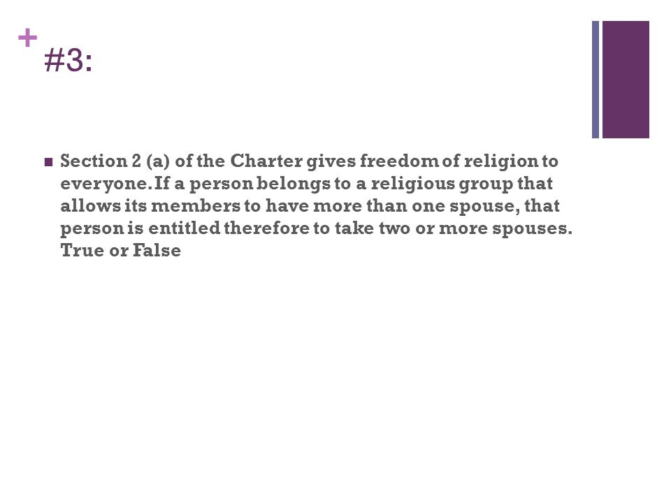 + Answer: Criminal Code of Canada Bigamy 290.