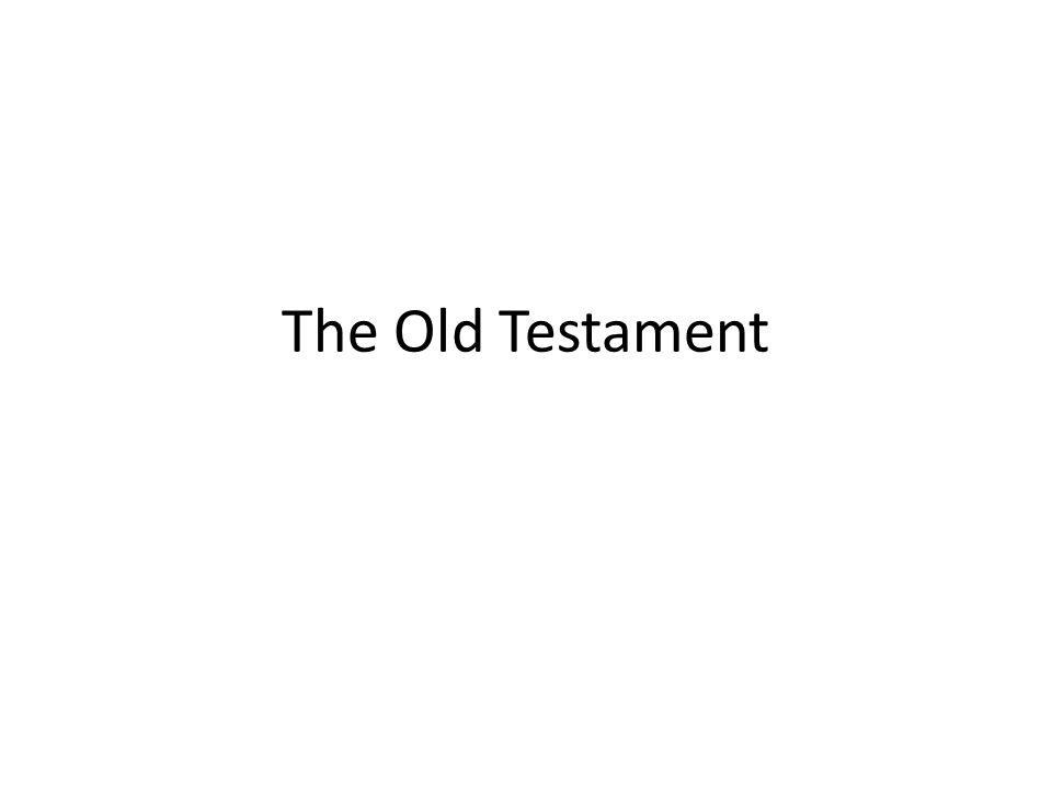 What is the Old Testament and why does it matter?