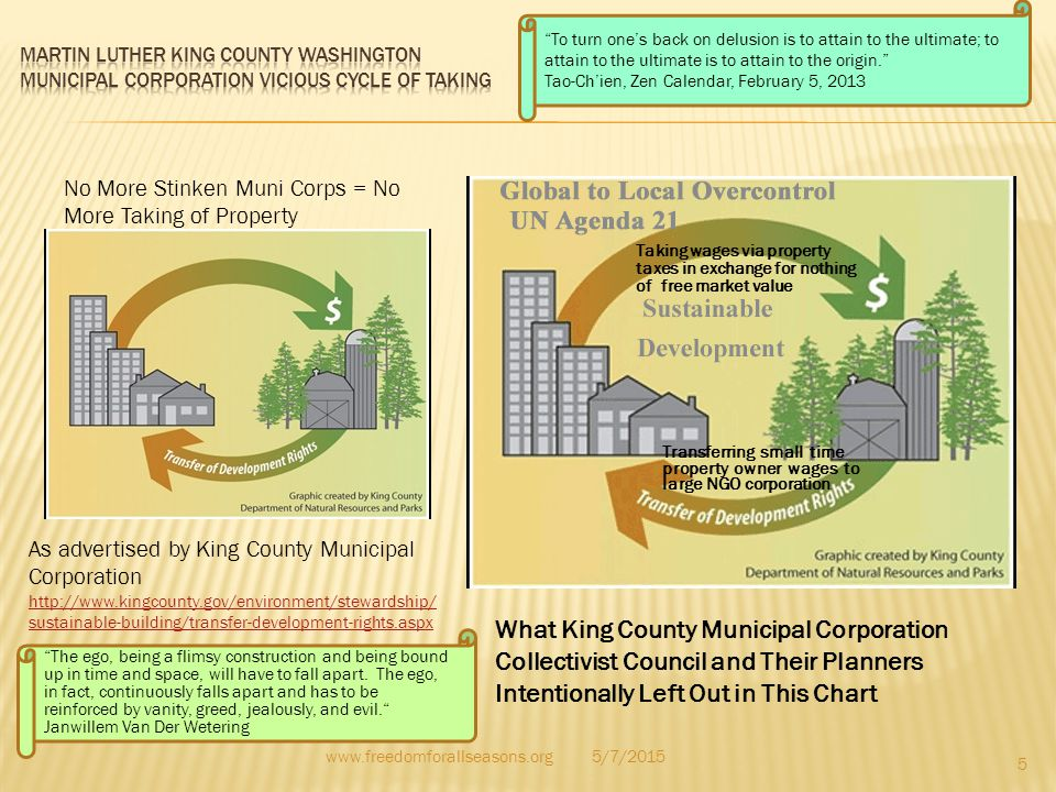 As advertised by King County Municipal Corporation http://www.kingcounty.gov/environment/stewardship/ sustainable-building/transfer-development-rights