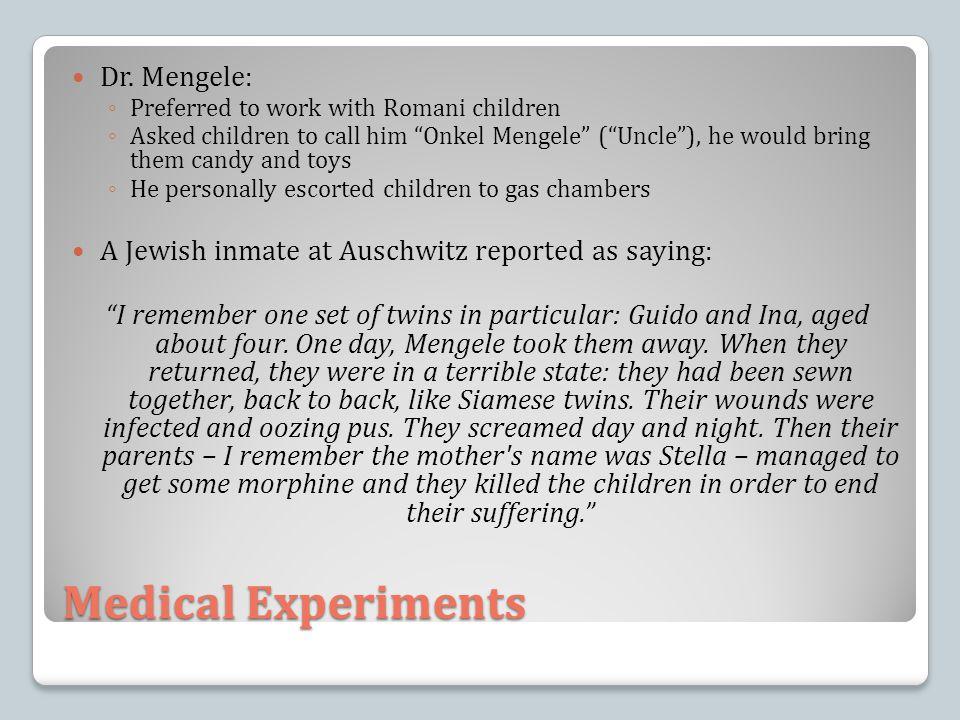 Medical Experiments Dr.