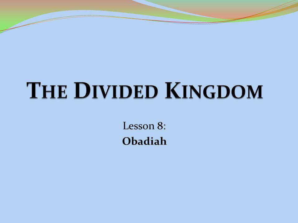 Lesson 8: Obadiah