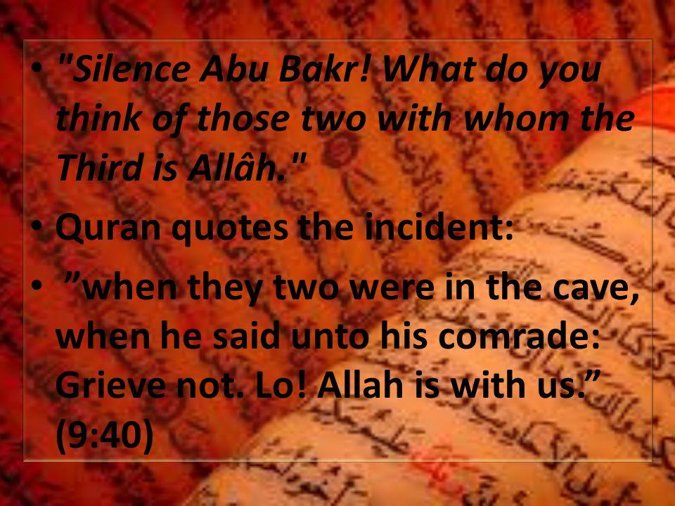 Silence Abu Bakr.