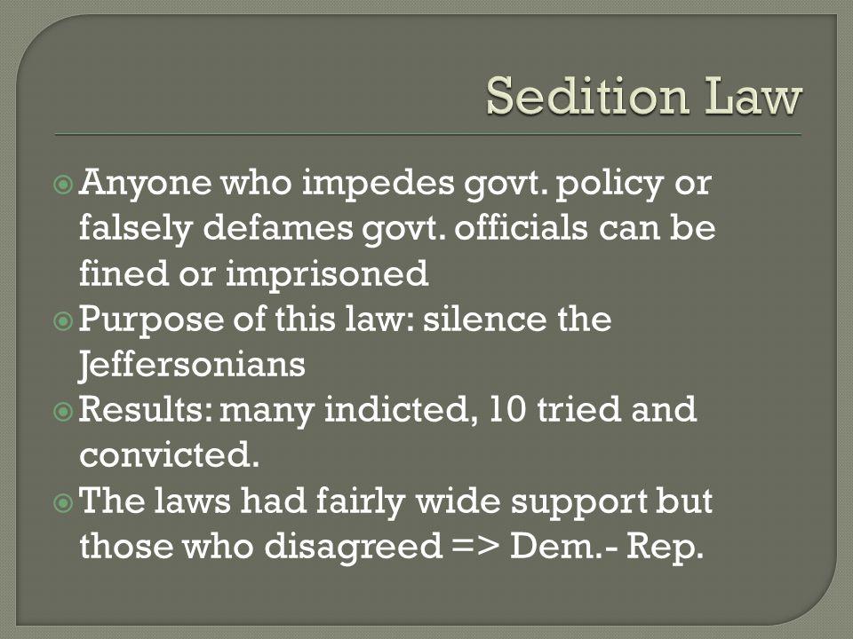  KT resolution secretly written by T.Jefferson, VA by James Madison  Basic points of both:  1.
