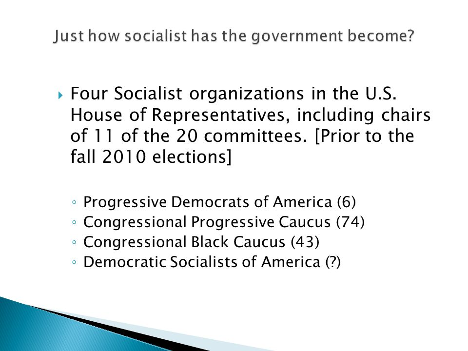  Four Socialist organizations in the U.S.