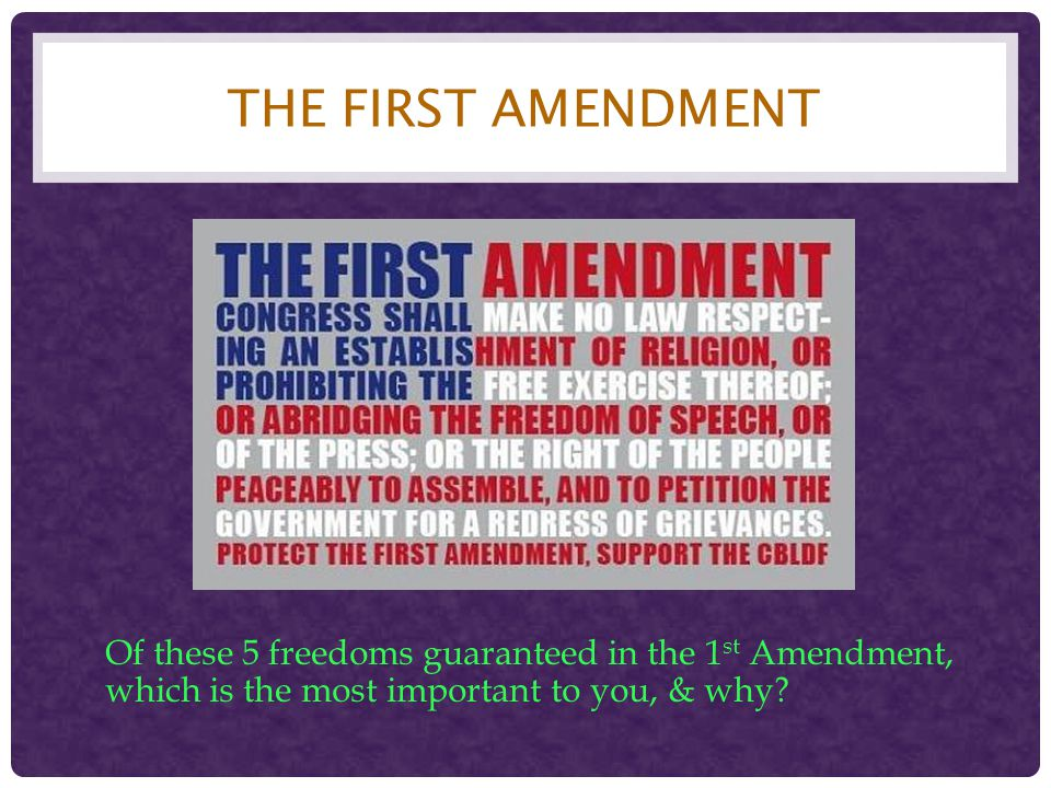 14 TH AMENDMENT Section 1: …no State shall make or enforce any law which shall abridge the privileges or immunities of citizens of the United States; nor shall any state deprive any person of life, liberty, or property without due process of law… Selective Incorporation- the application of the Bill of Rights to individual states Not all of the Bill of Rights have been applied to the states The following Amendments have NOT been incorporated: 2 nd, 3 rd, 5 th, 7 th, 8th