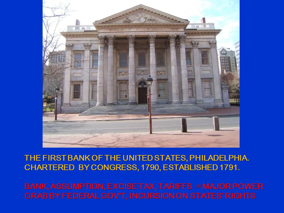 THE FIRST BANK OF THE UNITED STATES, PHILADELPHIA.
