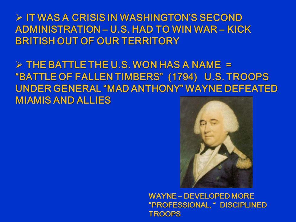  IT WAS A CRISIS IN WASHINGTON'S SECOND ADMINISTRATION – U.S.