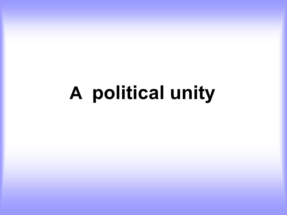 A political unity