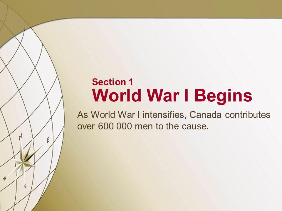 Causes of World War I Nationalism Nationalism—devotion to one's nation Nationalism leads to competition, antagonism between nations Various ethnic groups resent domination, want independence 1 SECTION NEXT