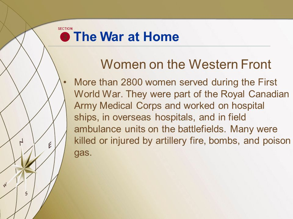 Women on the Western Front More than 2800 women served during the First World War.