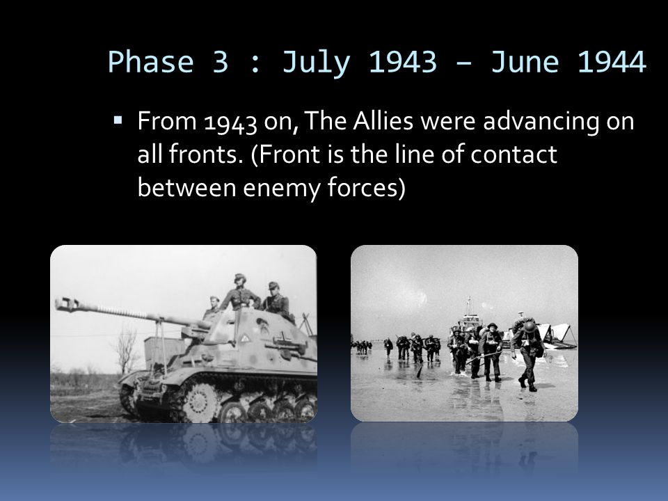Germany were forced to fight on two major fronts at the same time.