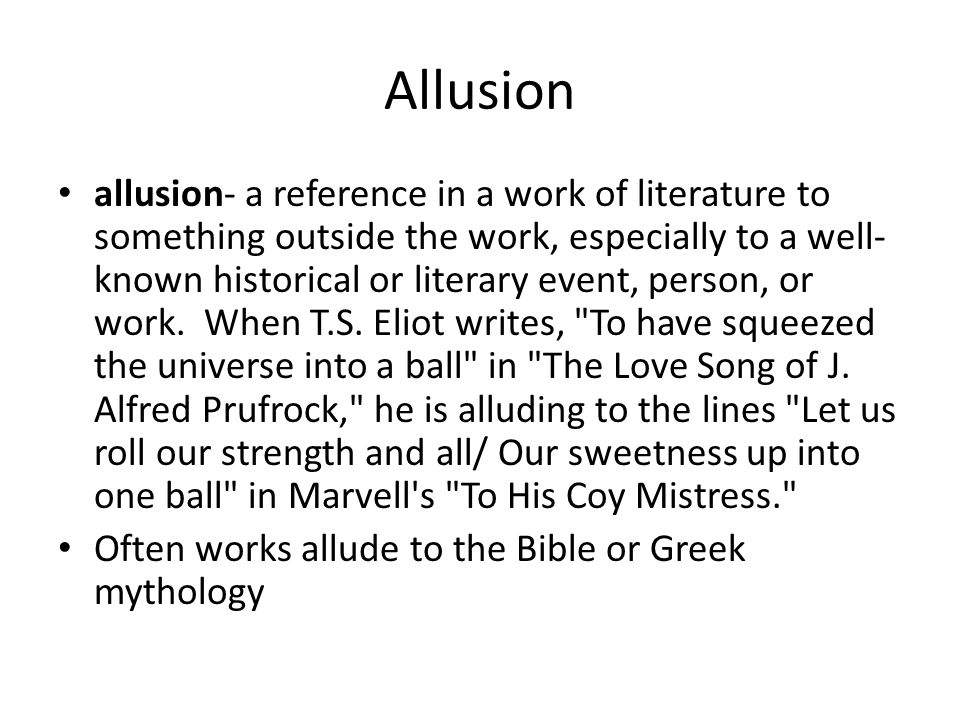 Poetry Smorgasbord Allusion Allusion A Reference In A Work Of