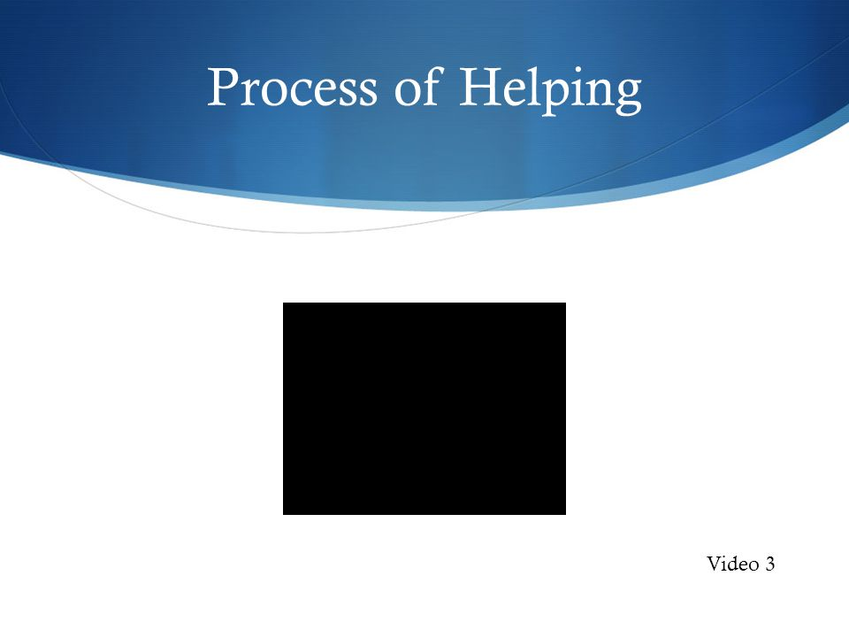 Process of Helping Video 3