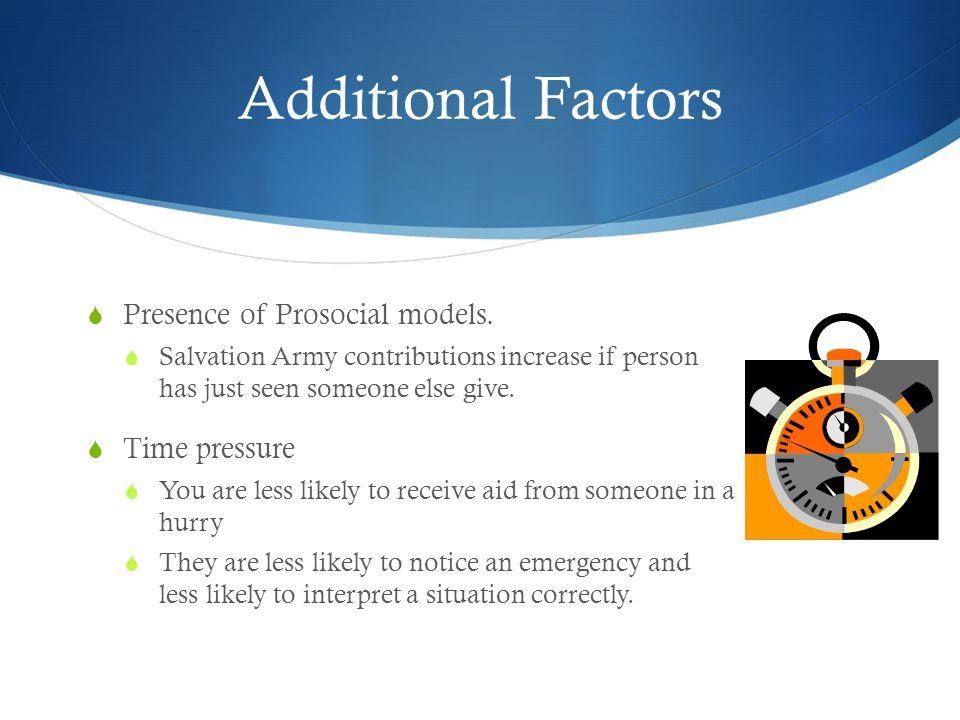 Additional Factors  Presence of Prosocial models.