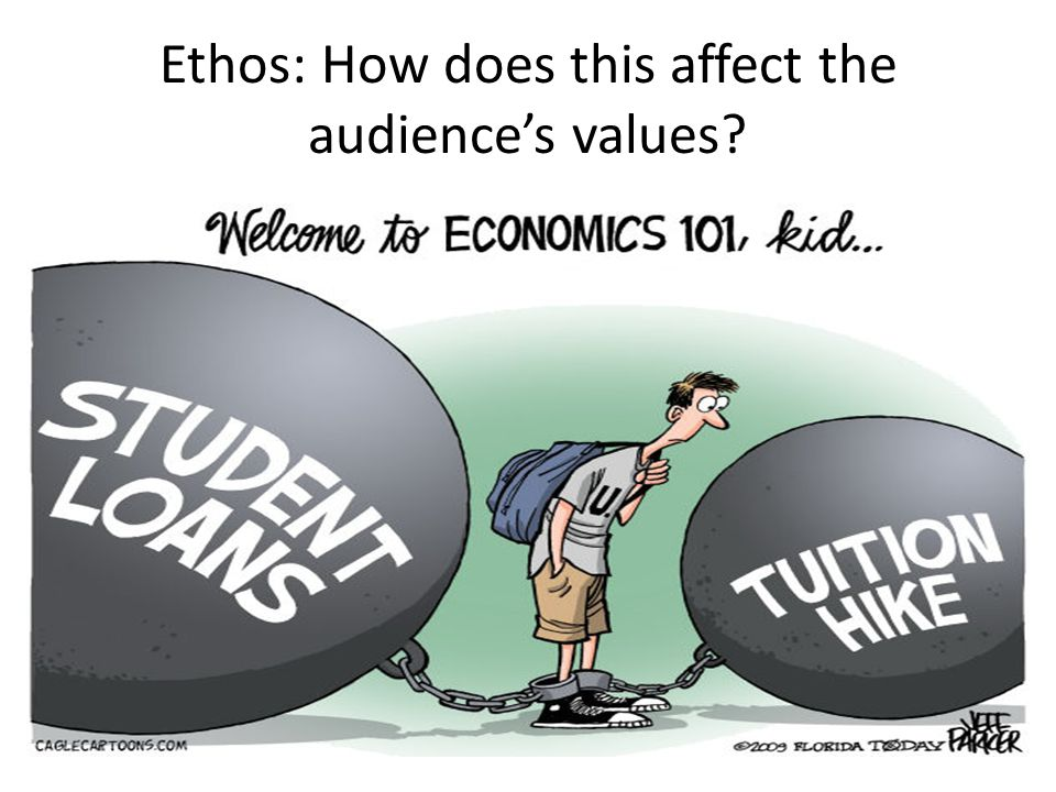 Ethos: How does this affect the audience's values?