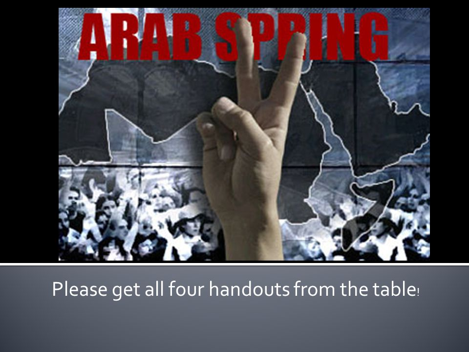 Please get all four handouts from the table !