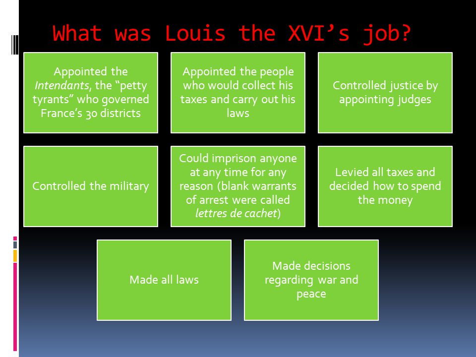 What was Louis the XVI's job.