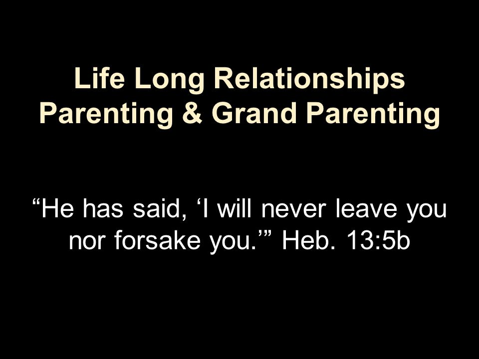 Theme The key to effective parenting is copying the parenting pattern of Father God.